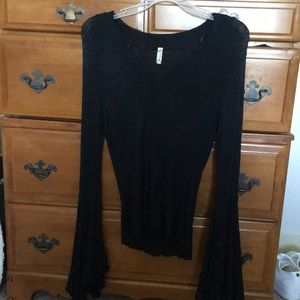 Free people fringe bell sleeve
